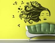 parede verde - cabelos