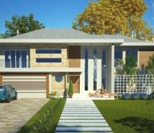 projeto  fachada sobrado 438M² 4 q