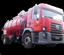 Caminhão Limpeza de Fossa e Caixa de Gordura Transporte de Resíduos.