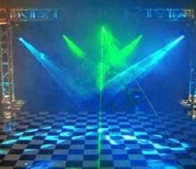Box truss em formato gol e iluminaçao