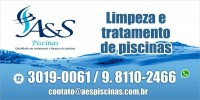 A&S Piscinas limpeza tratamento piscinas