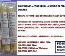 Cone Chinês - Limpeza de Ouvidos - São José, SC - Dé Schmitz Terapeuta (48) 3094-5746 - 1i