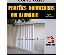Portões corrediços de alumínio
