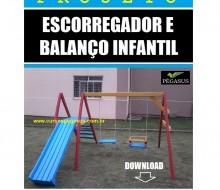 Projeto de Escorregador e balanço Infantil