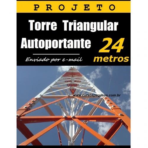 Torre autoportante de 24 metros